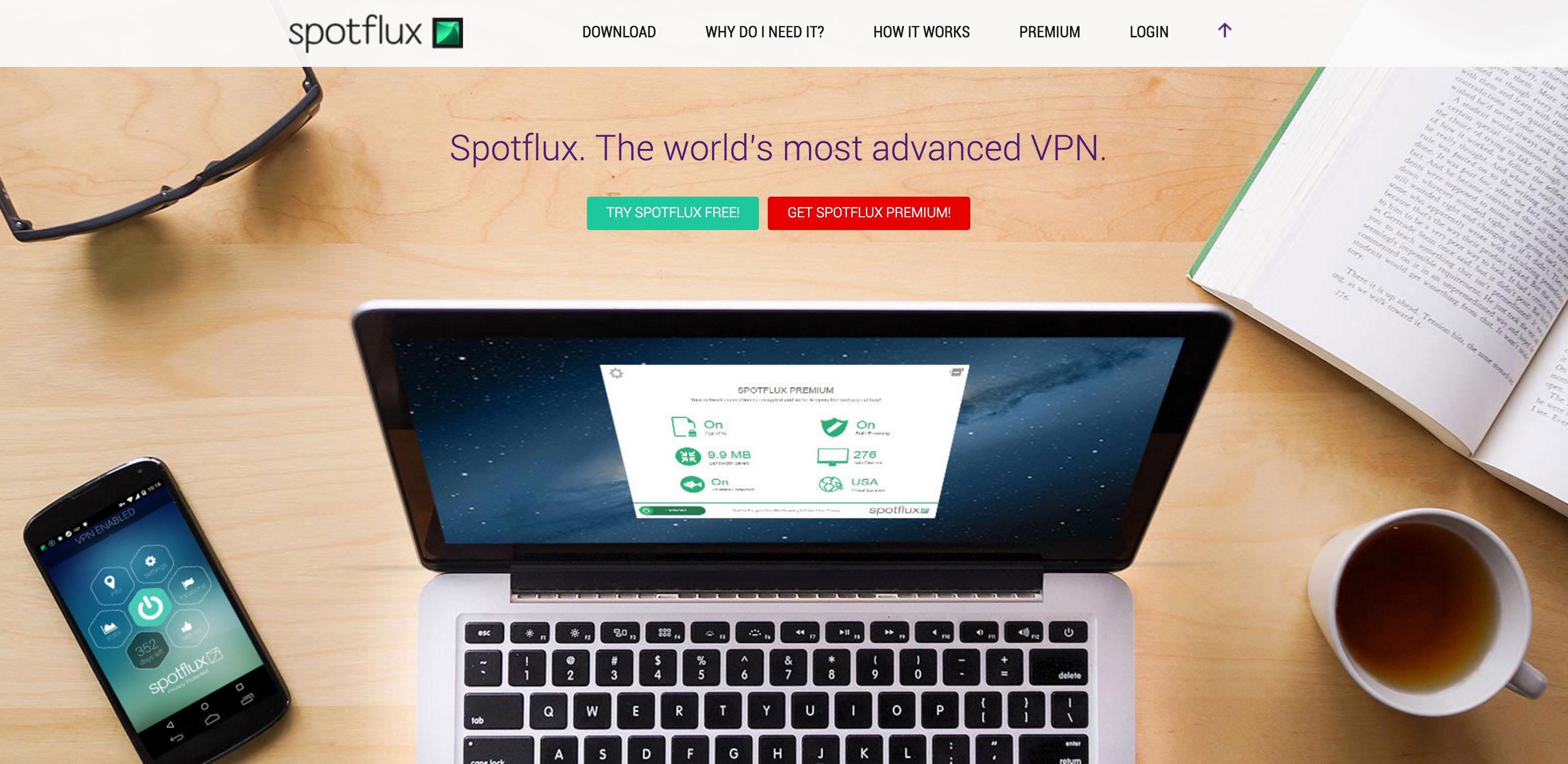 Spotflux free vpn